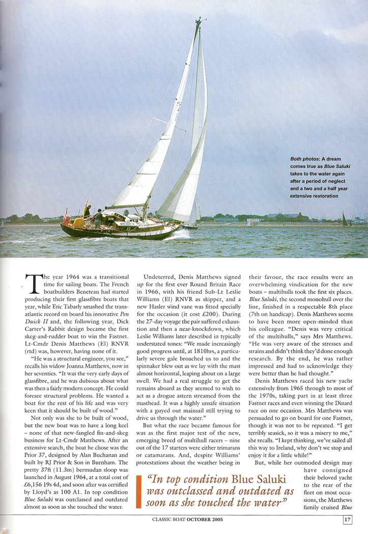 Classic Boat Article on Barbican Page 2