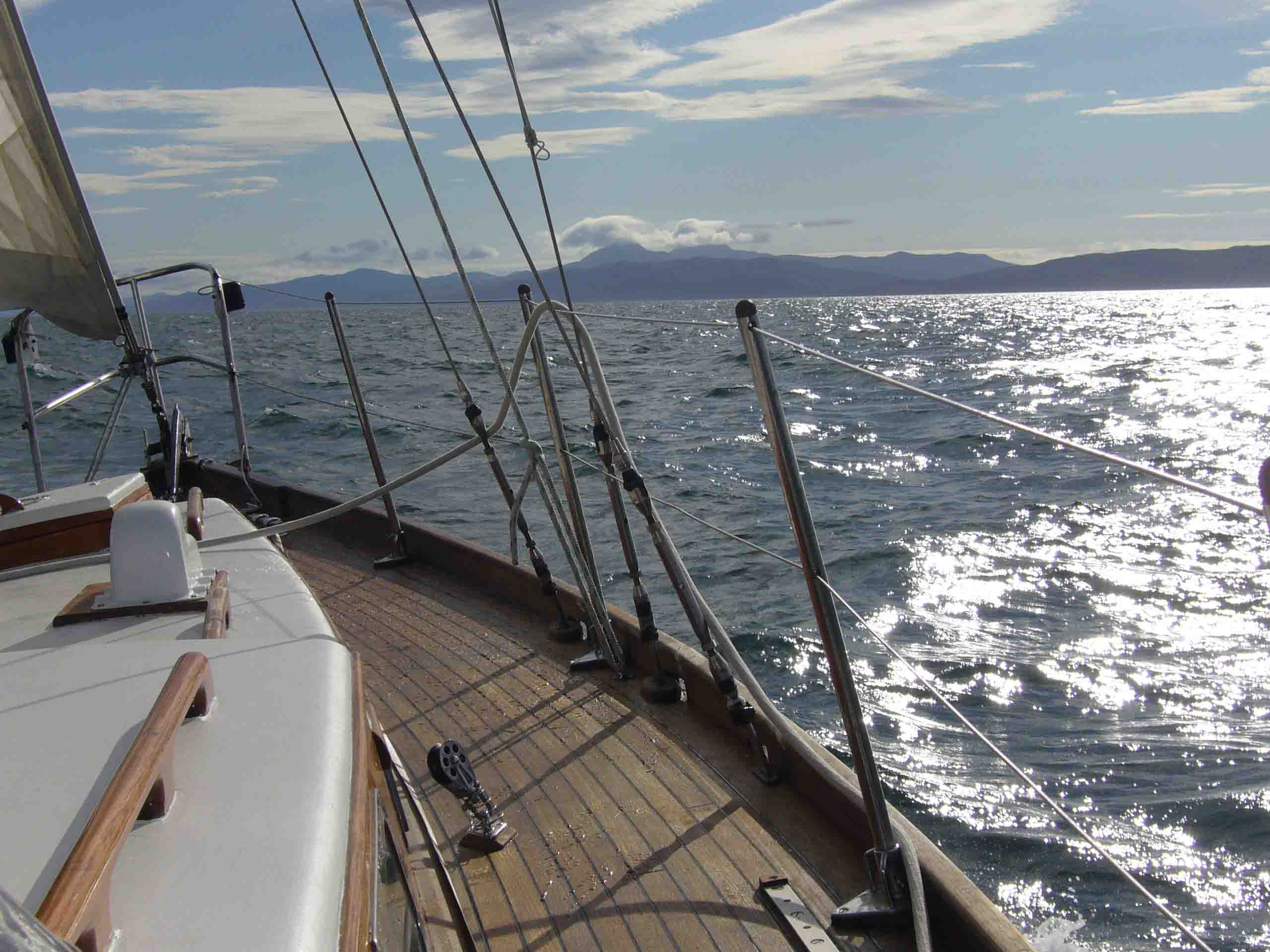Malouine approaching Cape Wrath